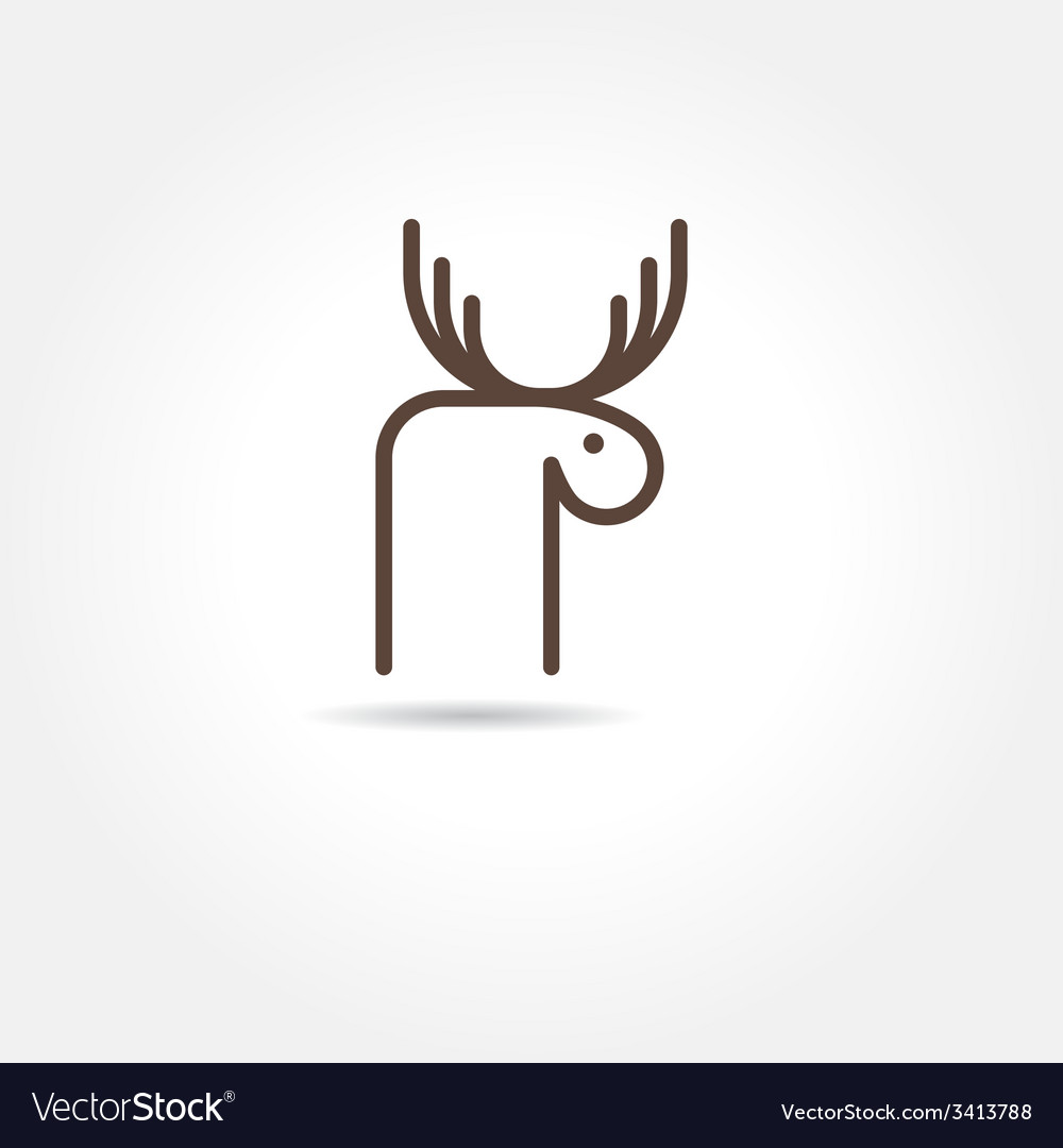 Moose icon vector | Price: 1 Credit (USD $1)