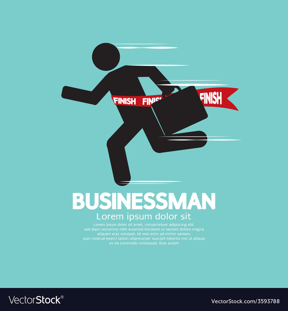 Running businessman symbol vector | Price: 1 Credit (USD $1)
