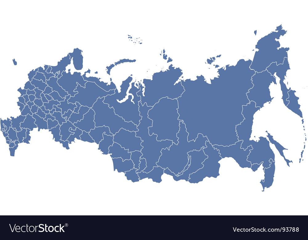 Russian regions map vector | Price: 1 Credit (USD $1)