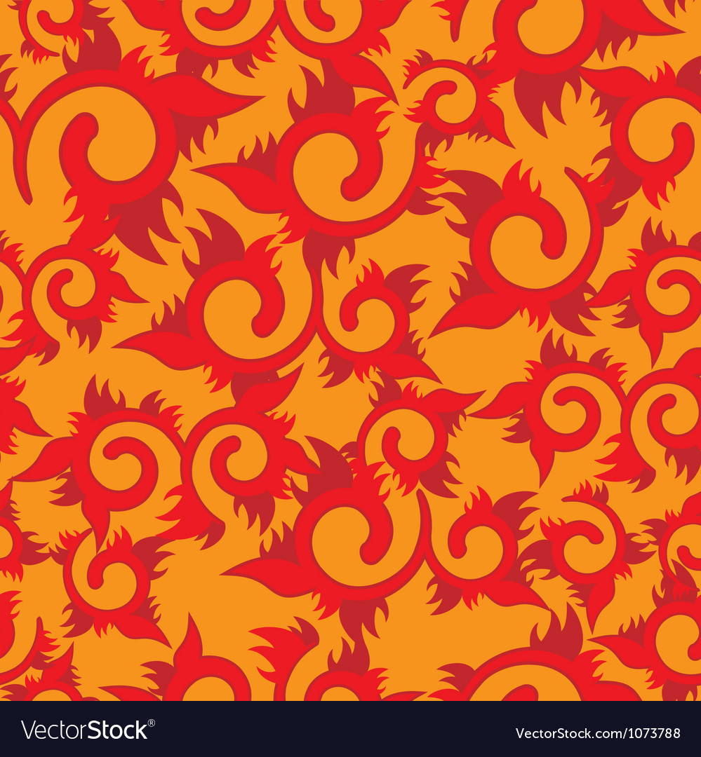 Seamless floral fire vector | Price: 1 Credit (USD $1)
