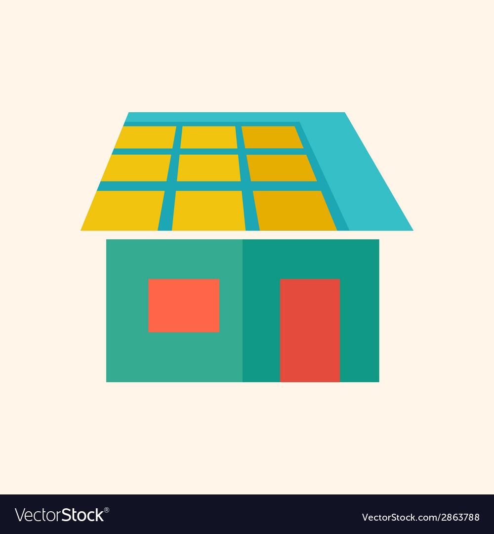 Solar energy flat icon vector | Price: 1 Credit (USD $1)