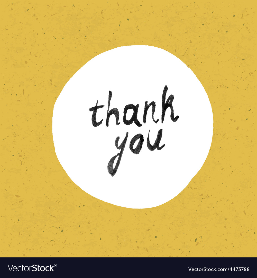 Thank you card yellow paper vector | Price: 1 Credit (USD $1)