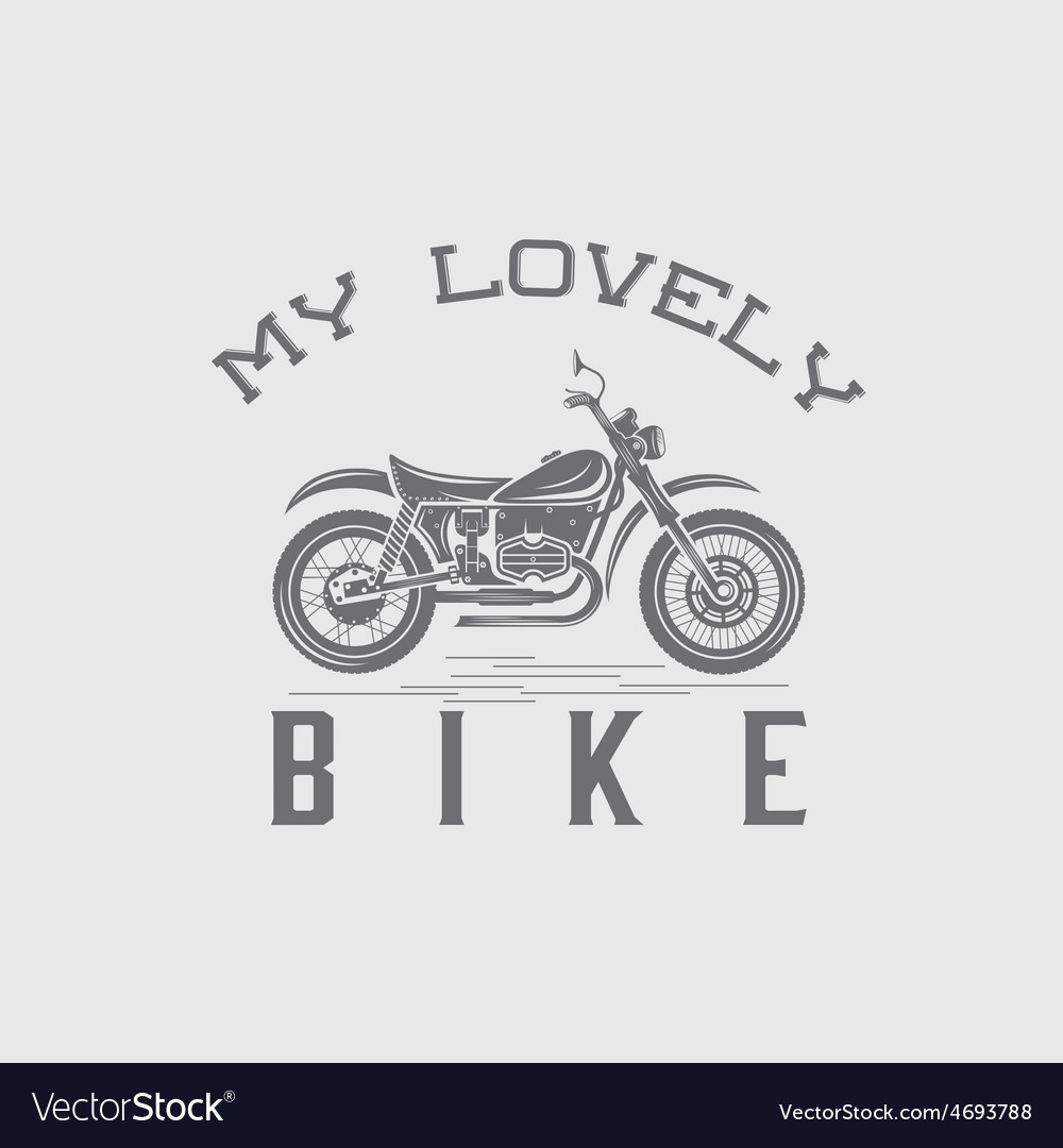 Vintage motorcycle graphic design template vector | Price: 1 Credit (USD $1)