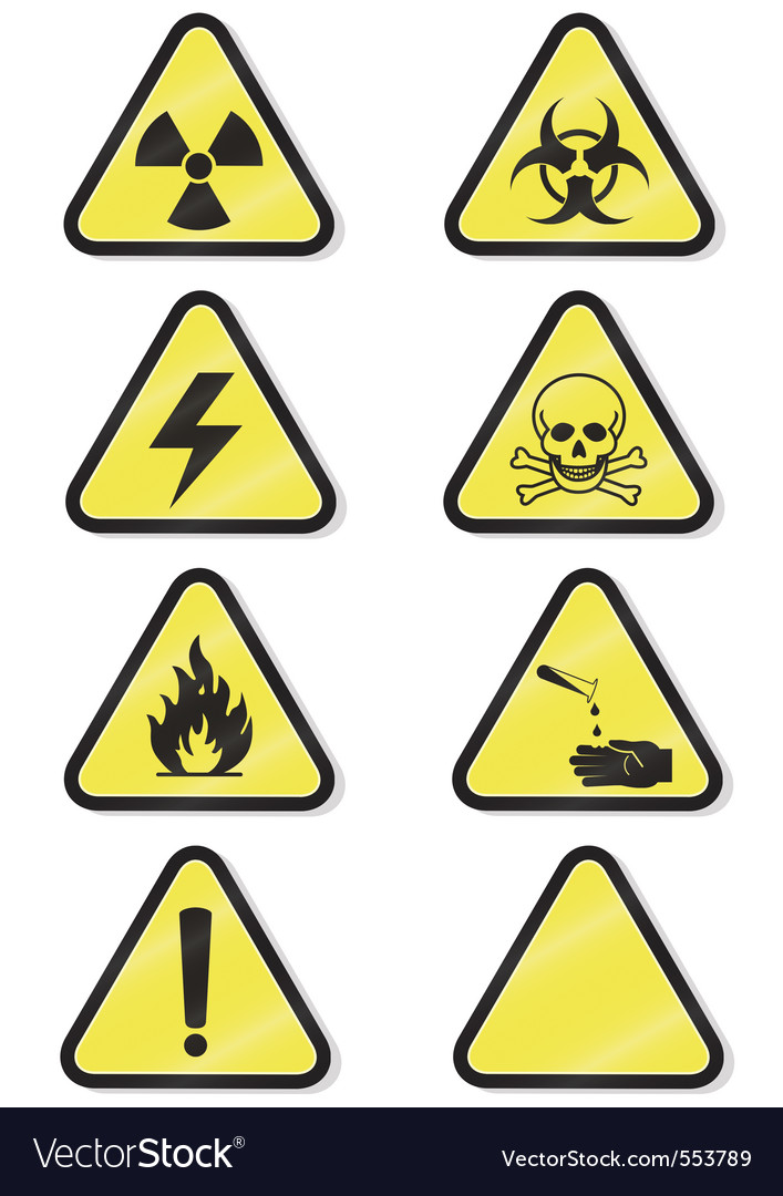 Chemical warning vector | Price: 1 Credit (USD $1)