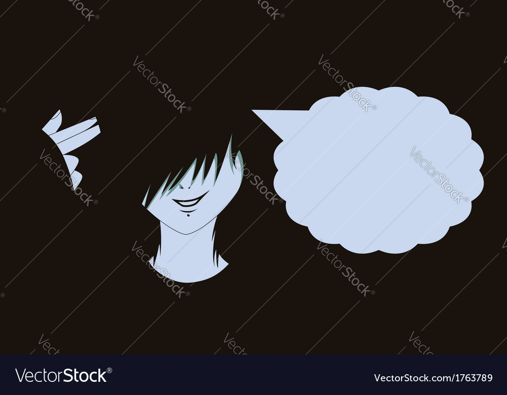 Emo kid with finger gun2 vector | Price: 1 Credit (USD $1)