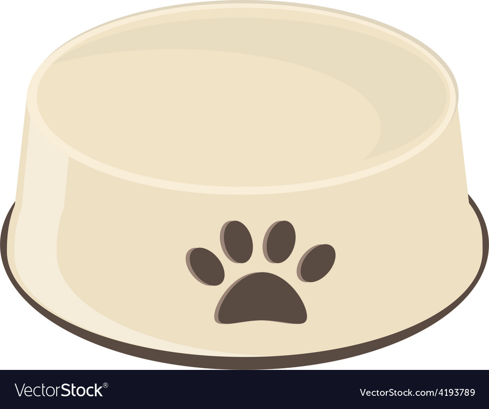 Empty dog bowl vector | Price: 1 Credit (USD $1)