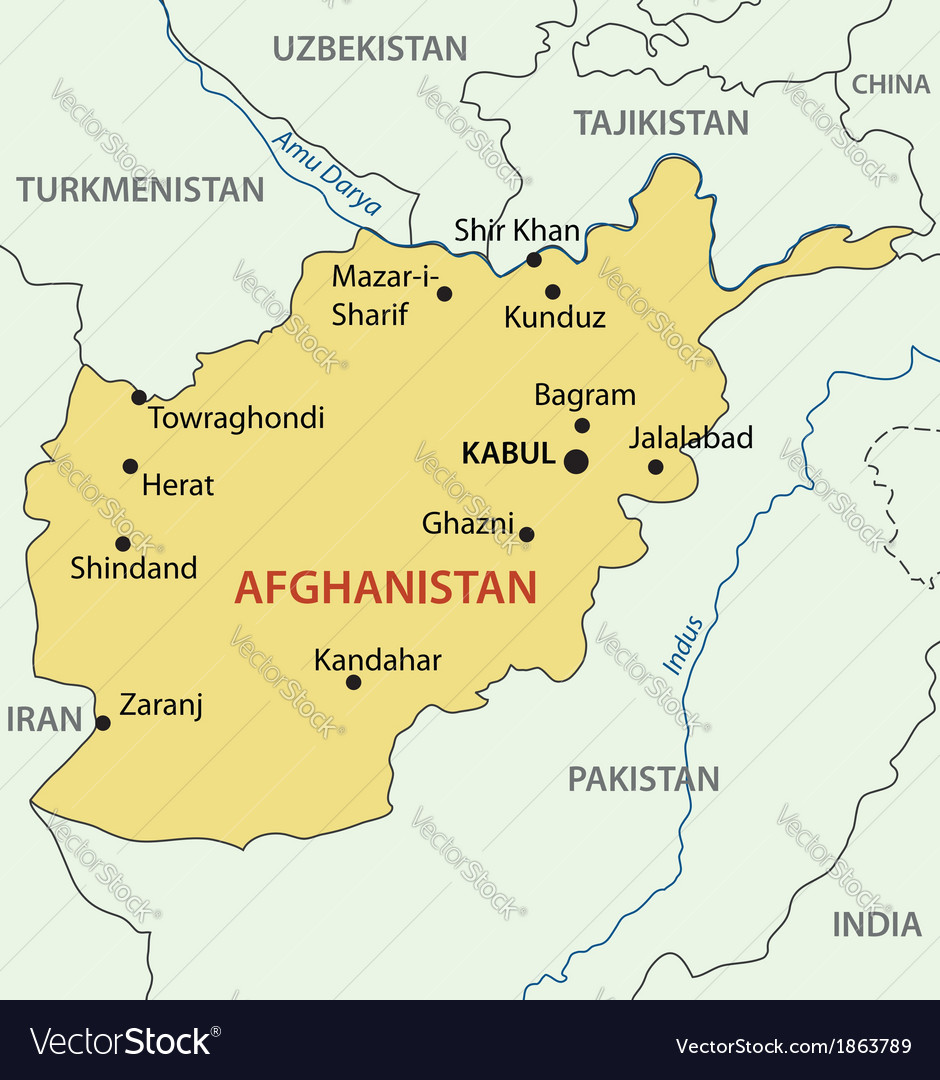 Islamic republic of afghanistan - map vector | Price: 1 Credit (USD $1)