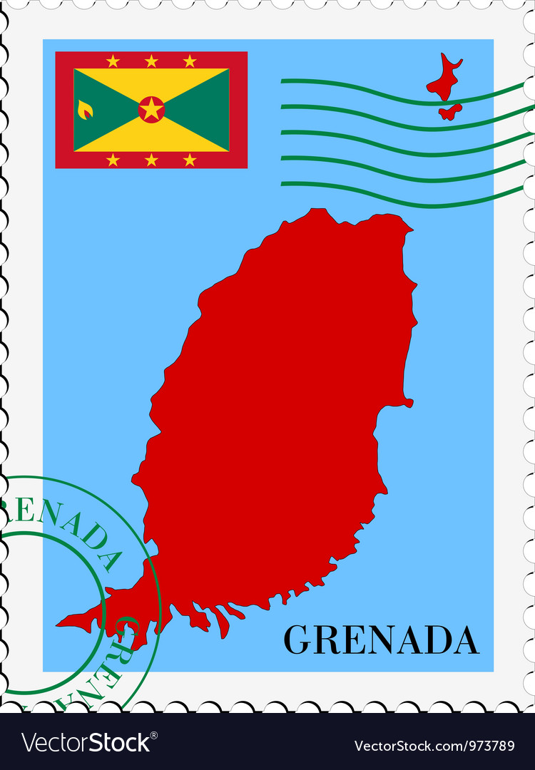 Mail to-from grenada vector | Price: 1 Credit (USD $1)