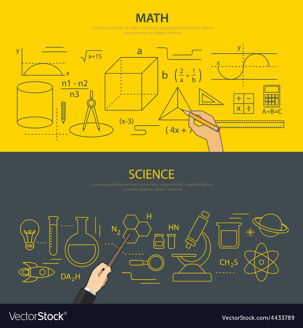 Math and science education concept vector | Price: 1 Credit (USD $1)