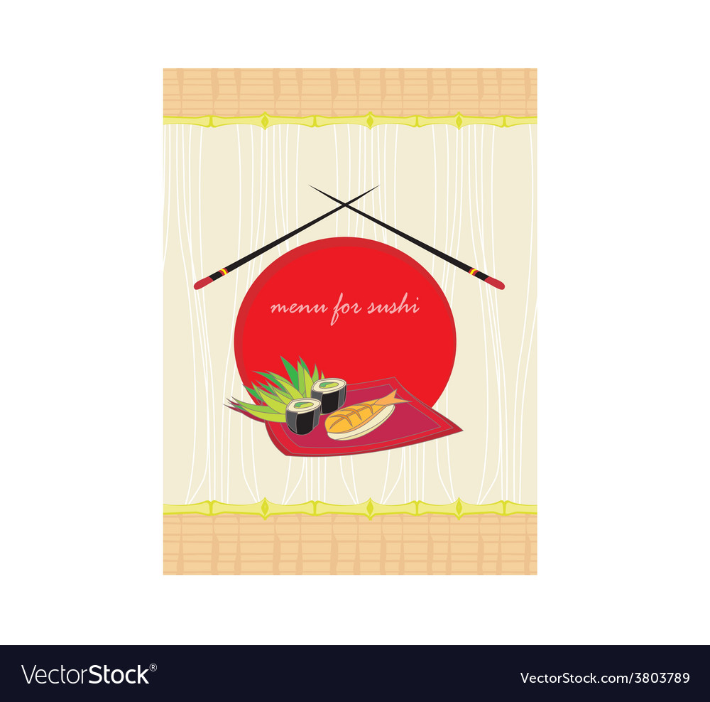 Menu for sushi - template design vector | Price: 1 Credit (USD $1)