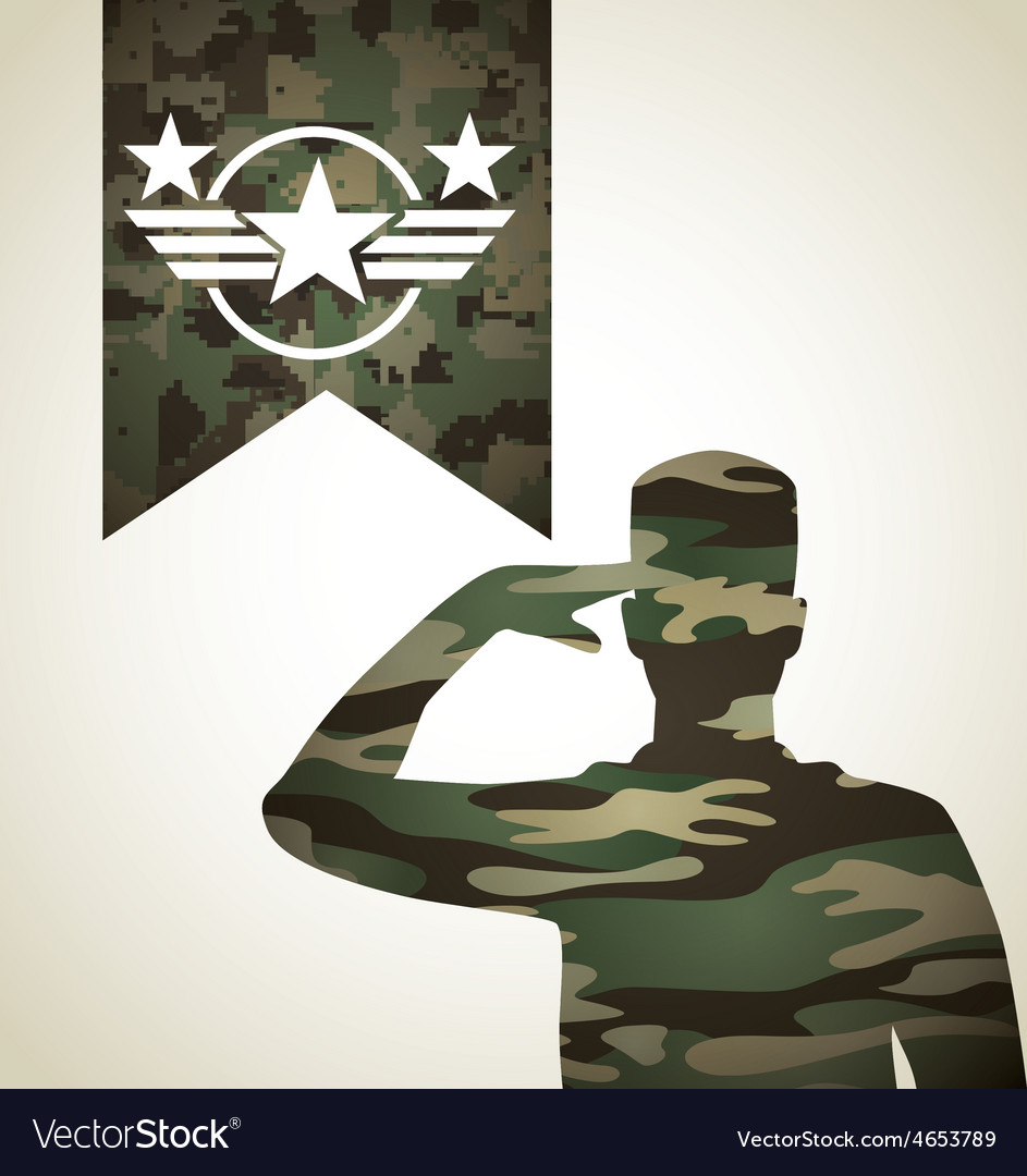 Military emblem vector | Price: 1 Credit (USD $1)