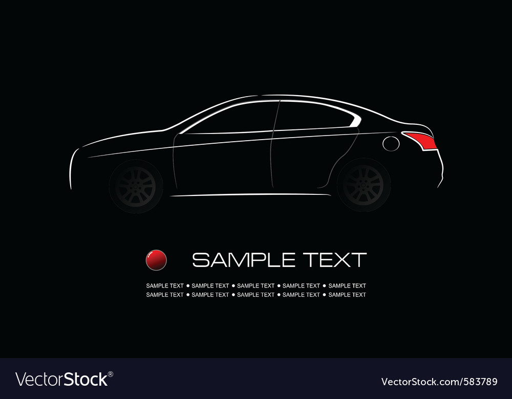 Modern car vector | Price: 1 Credit (USD $1)