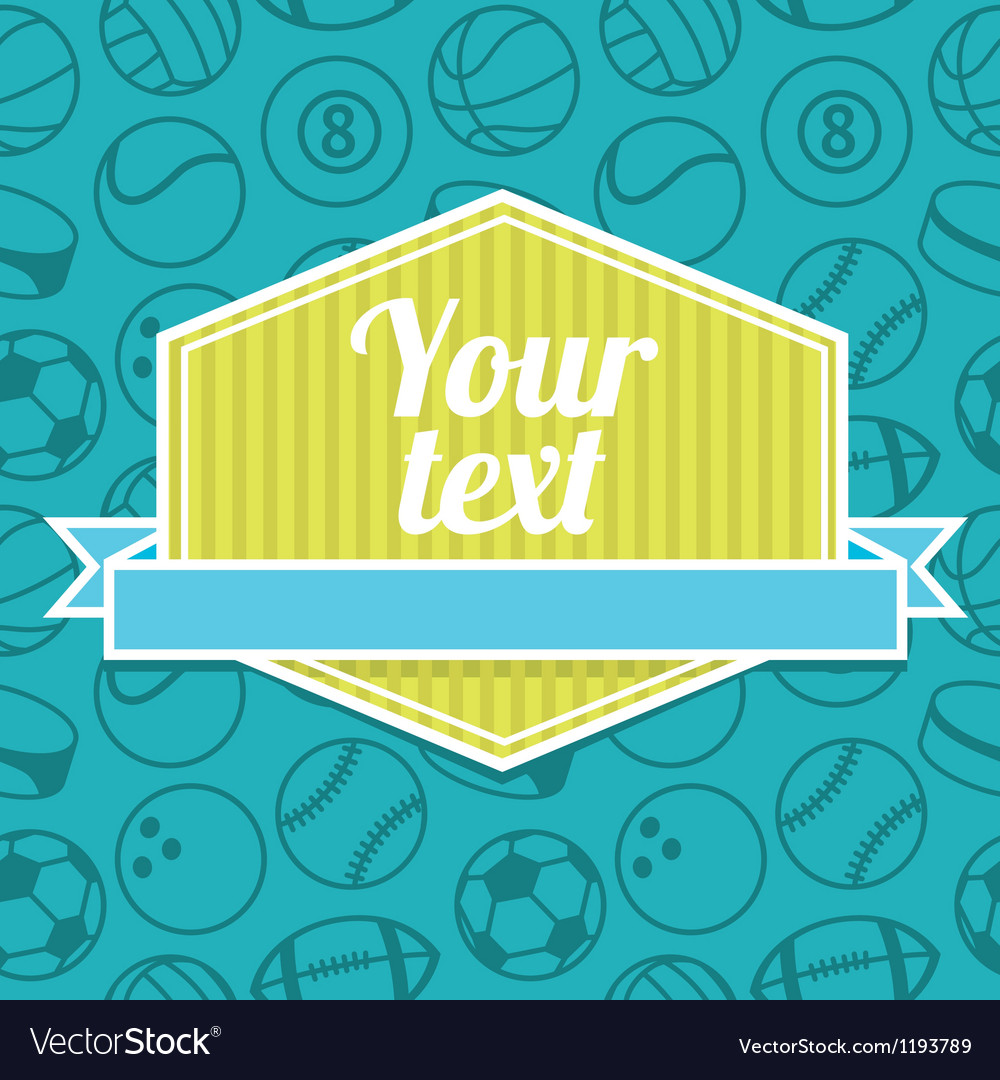 Pattern with sport balls vector | Price: 1 Credit (USD $1)