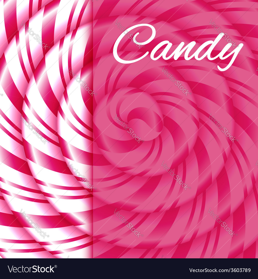 Pink and white candy cane sweet spiral vector | Price: 1 Credit (USD $1)