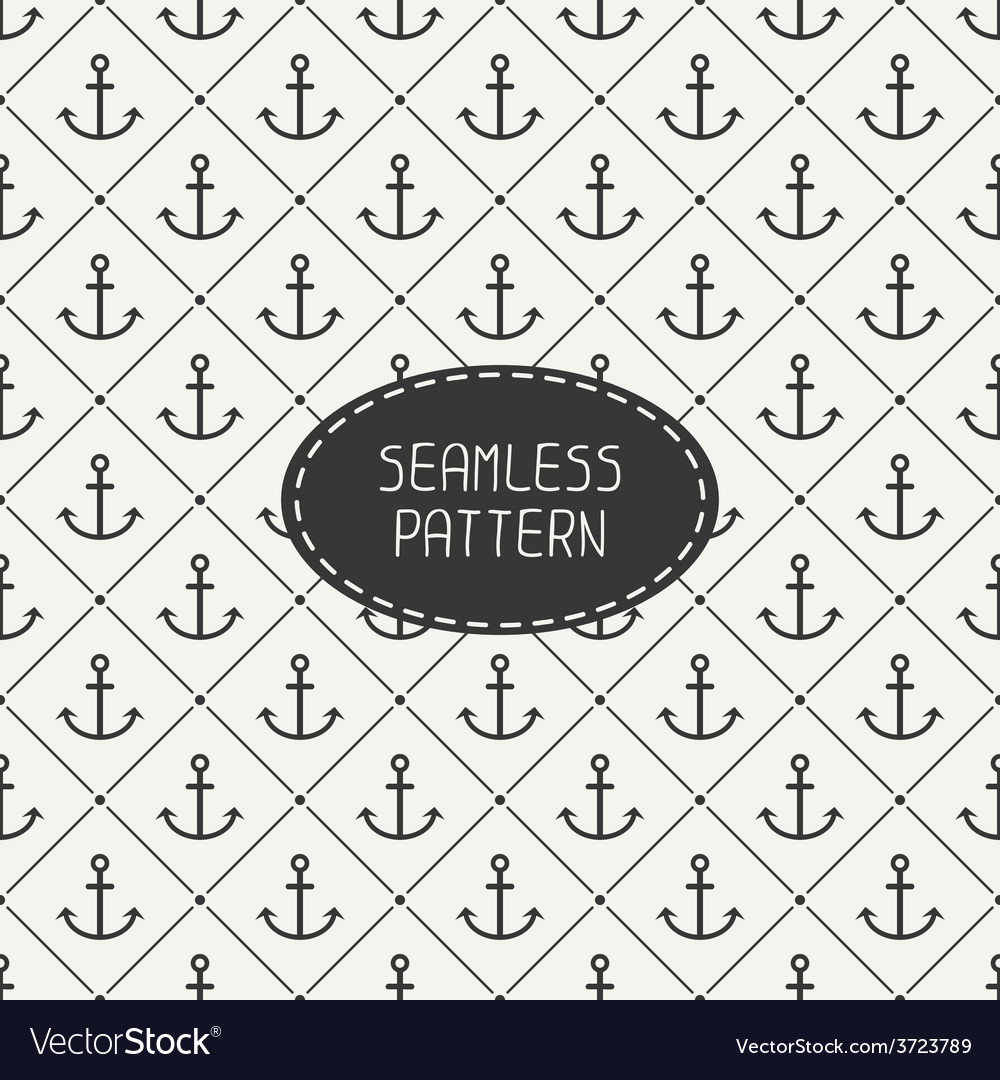 Seamless retro pattern with hipster anchor vector | Price: 1 Credit (USD $1)