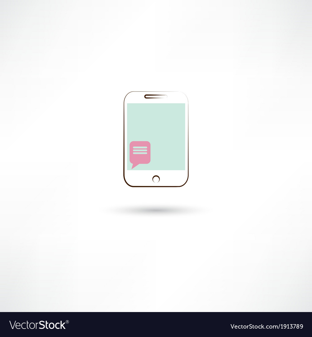 Sms in mobile phone vector | Price: 1 Credit (USD $1)