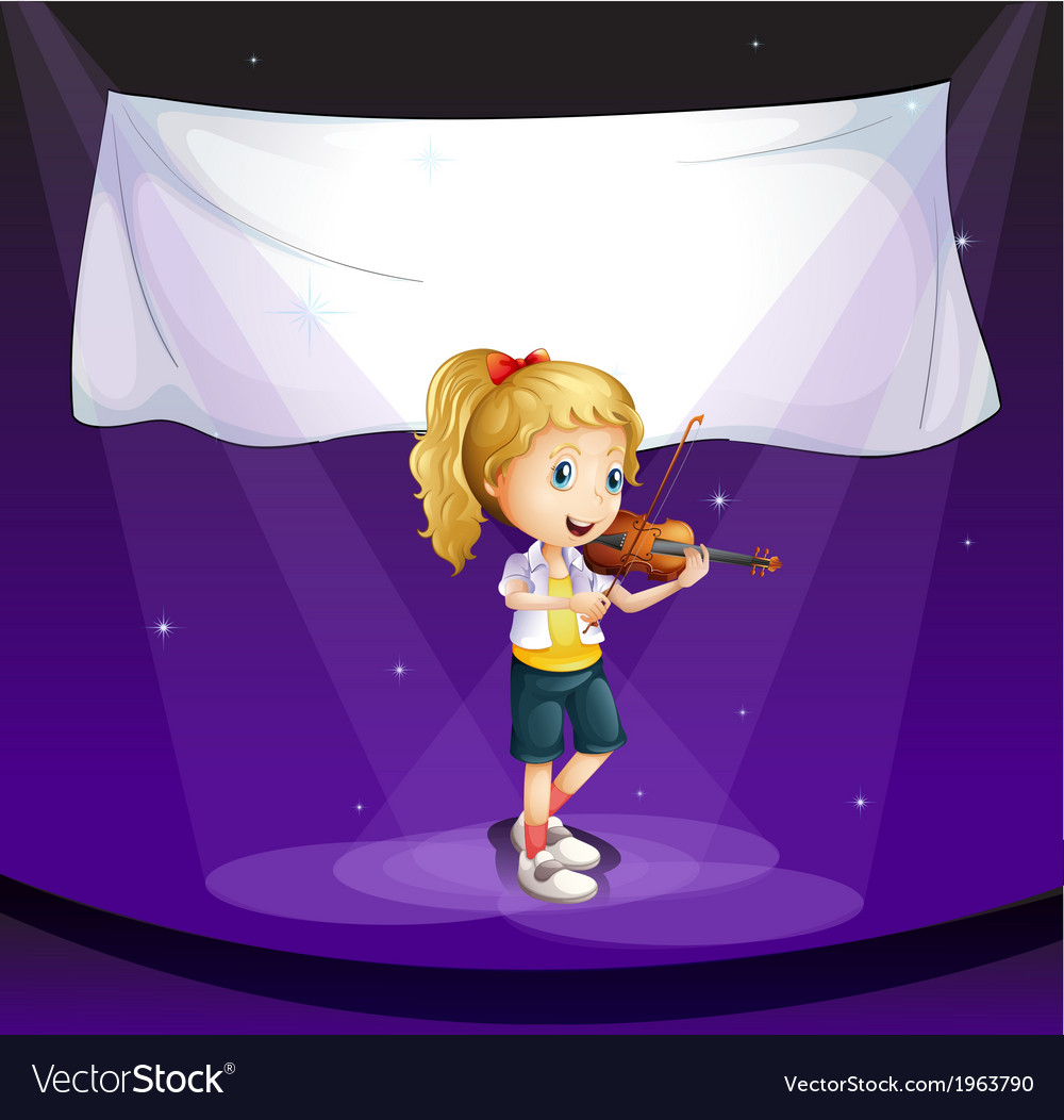 A girl performing at the stage with an empty vector | Price: 3 Credit (USD $3)