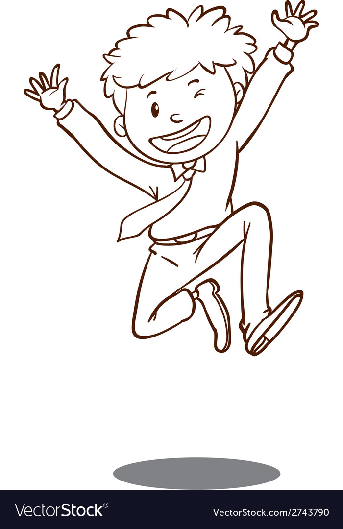 A simple sketch of a happy office worker vector | Price: 1 Credit (USD $1)