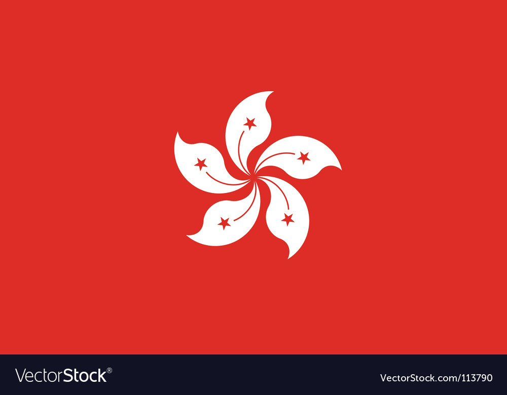 Hong kong flag vector | Price: 1 Credit (USD $1)