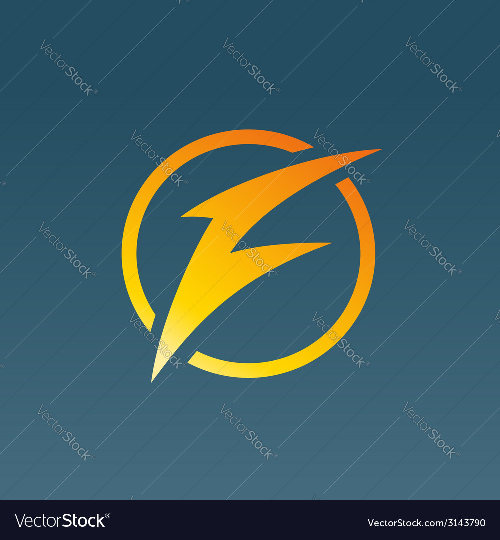 Letter f lightning logo icon design template vector | Price: 1 Credit (USD $1)