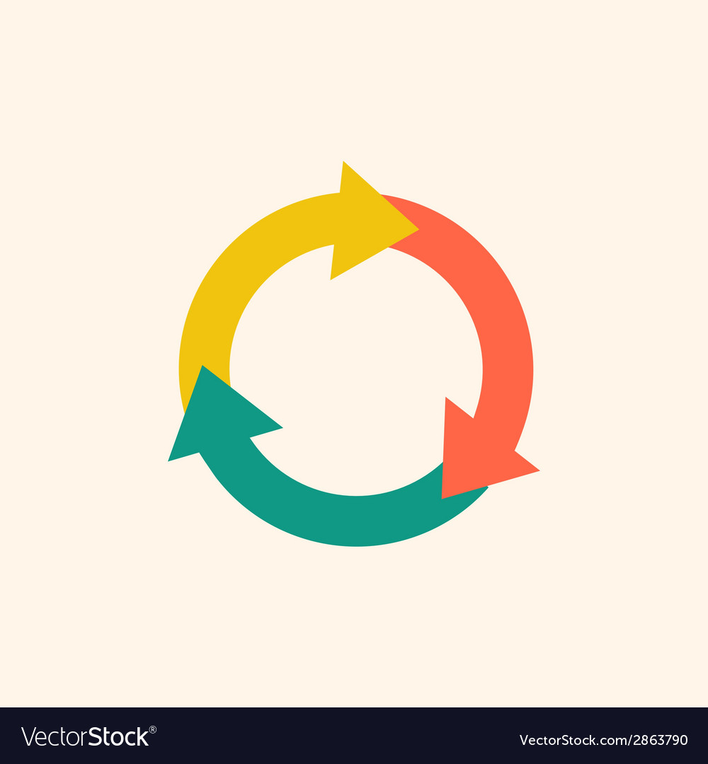 Recycle flat icon vector | Price: 1 Credit (USD $1)