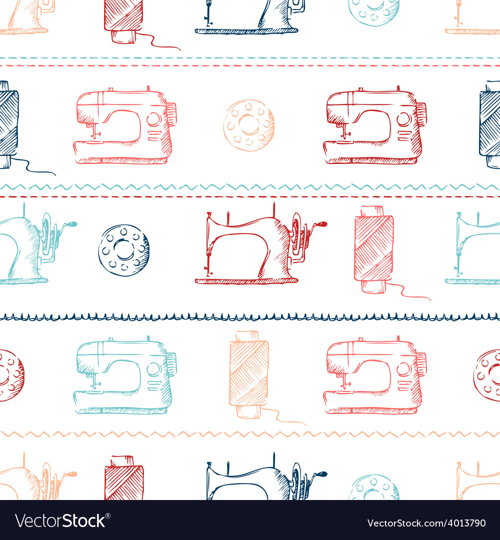 Seamless sewing pattern vector | Price: 1 Credit (USD $1)