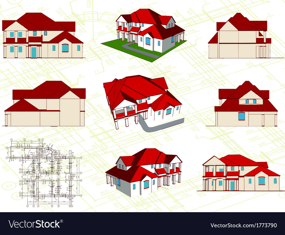 Set architectural objects vector | Price: 1 Credit (USD $1)