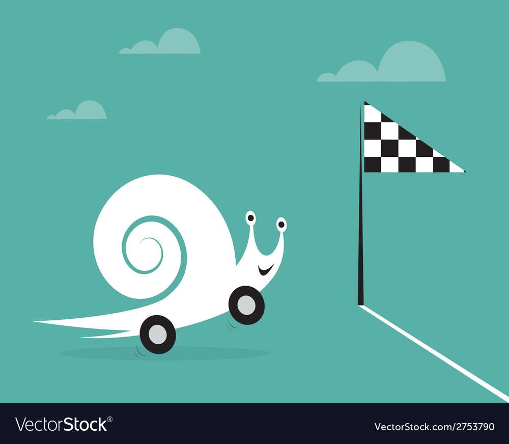 Snail on wheels vector | Price: 1 Credit (USD $1)