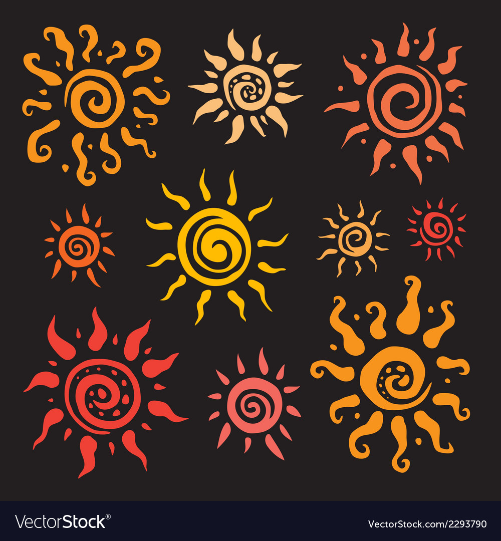 Sun set hand drawn vector | Price: 1 Credit (USD $1)