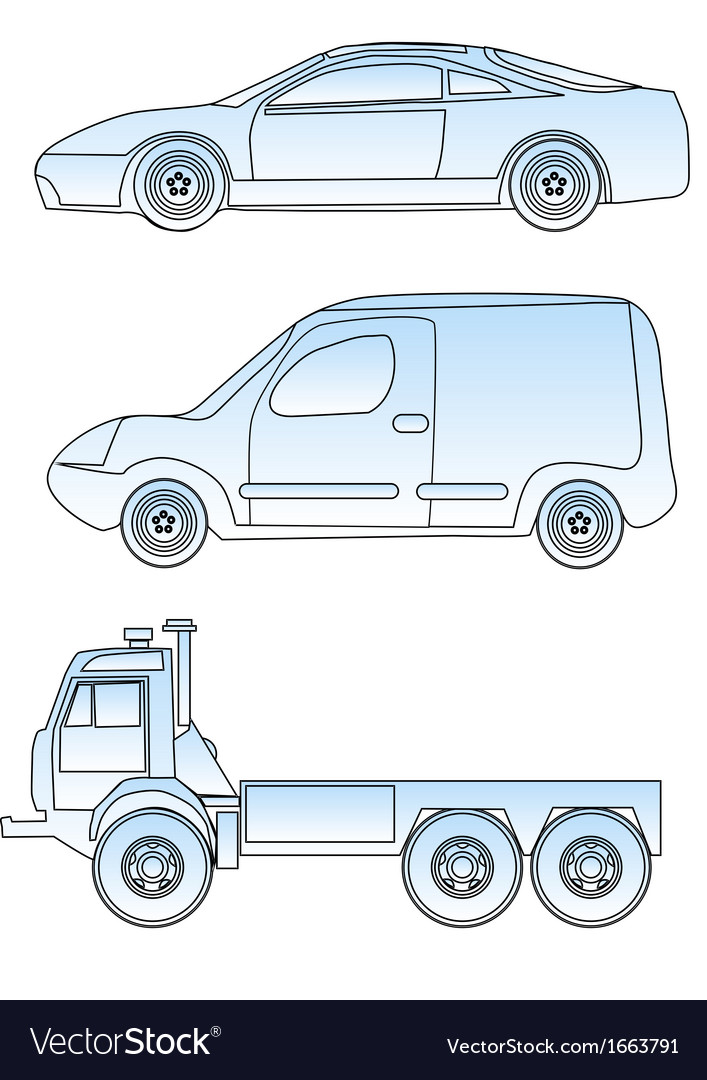 Abstract cars vector