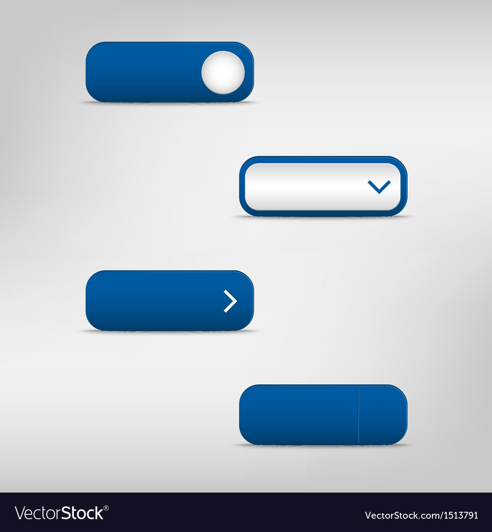 Blue empty rectangular buttons vector | Price: 1 Credit (USD $1)