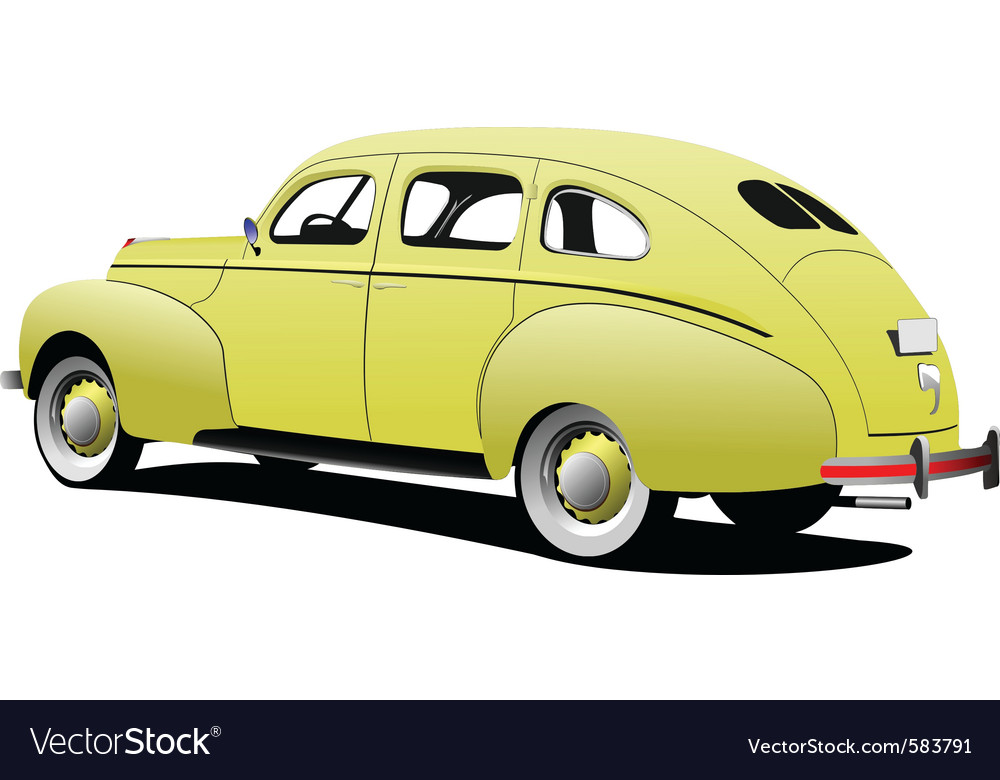 Classic car vector | Price: 1 Credit (USD $1)