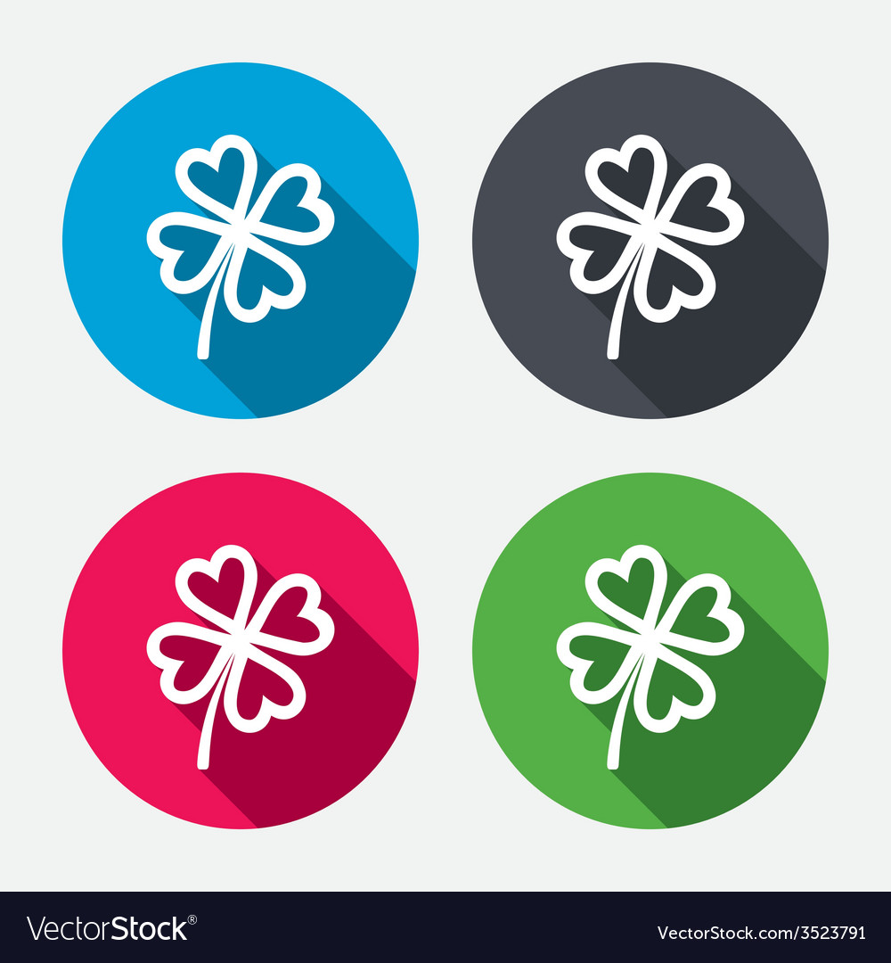 Clover with four leaves sign st patrick symbol vector | Price: 1 Credit (USD $1)