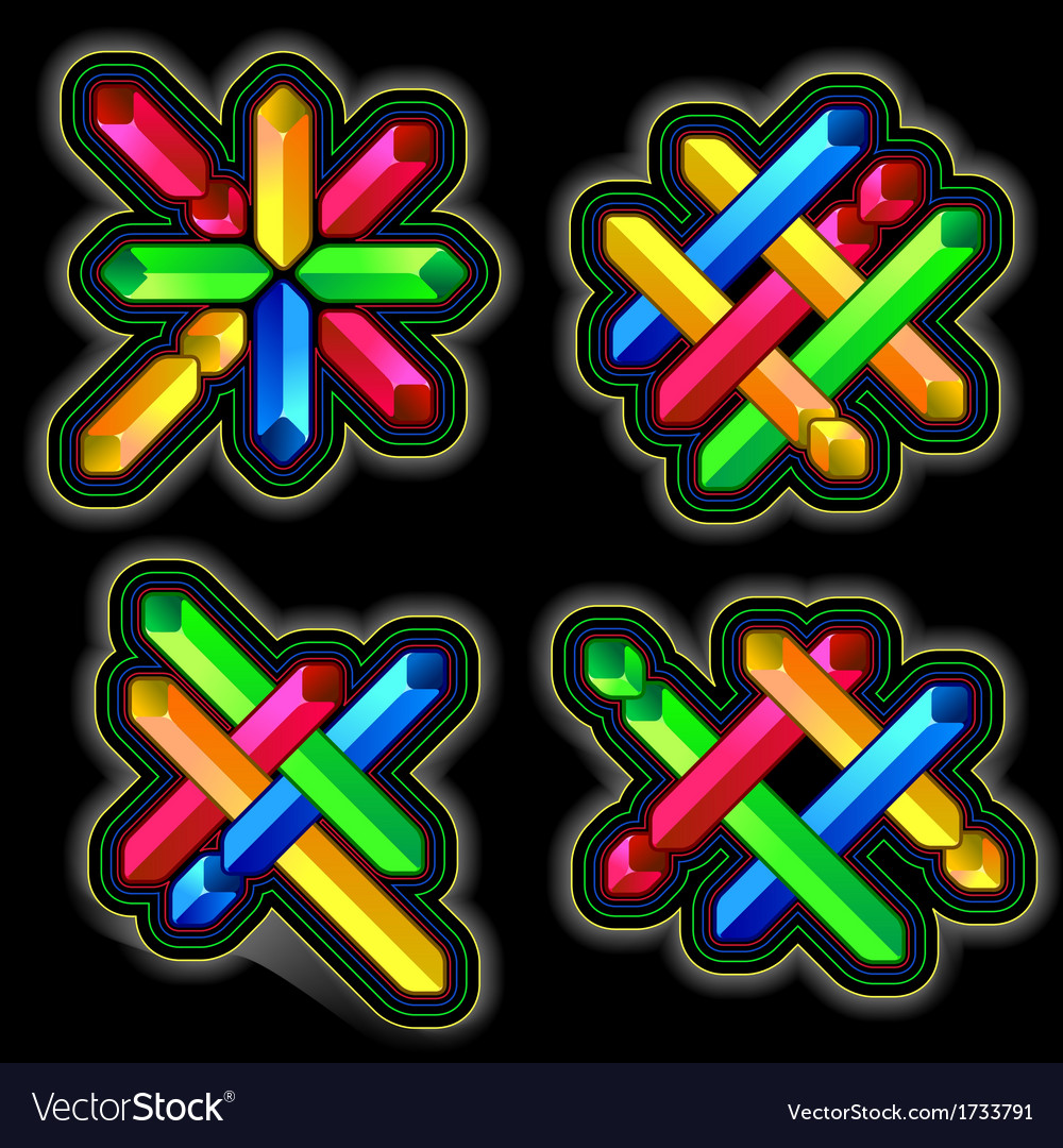 Diagonal cross geometric element vector   Price: 1 Credit (USD $1)