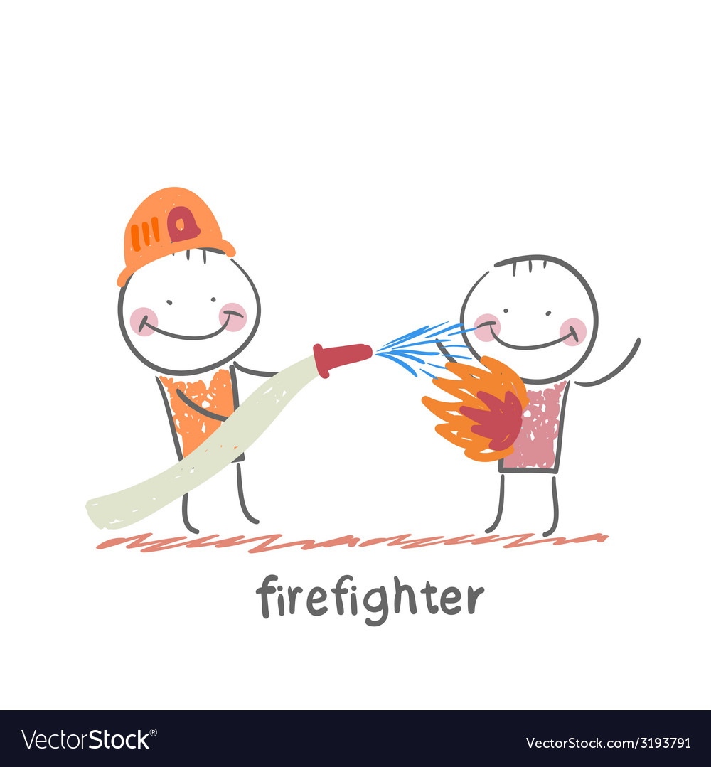 Firefighter vector | Price: 1 Credit (USD $1)