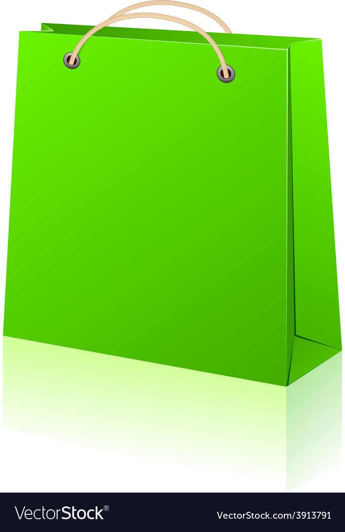 Green shopping bag vector | Price: 1 Credit (USD $1)