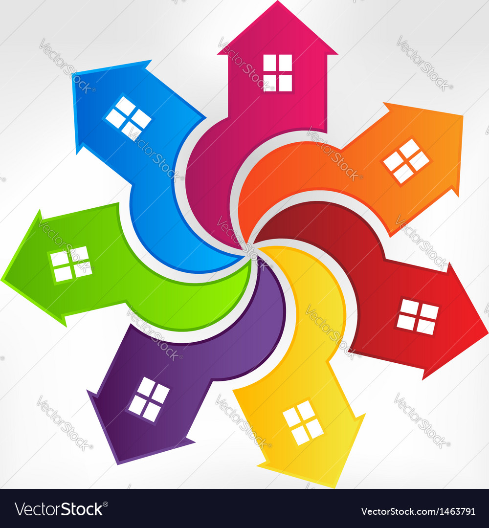Houses logo design element vector | Price: 1 Credit (USD $1)