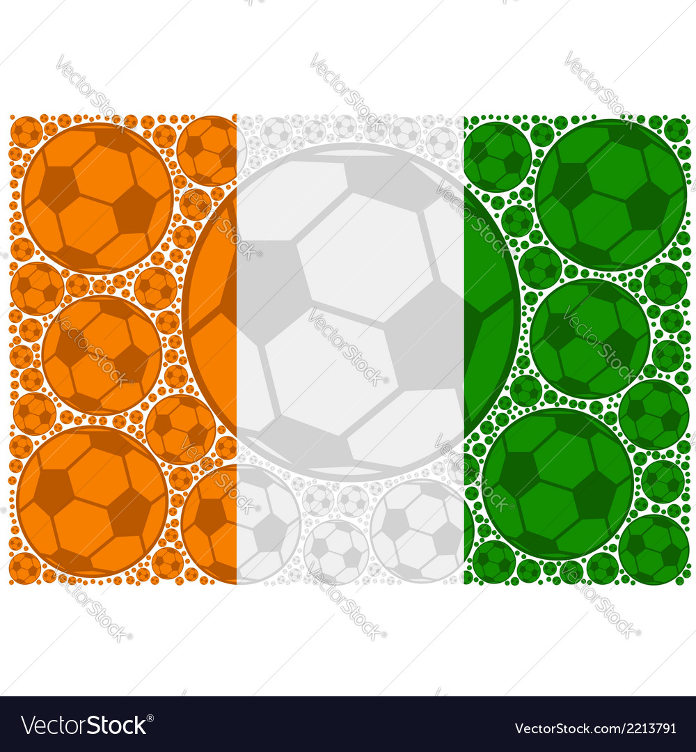 Ivory coast soccer balls vector | Price: 1 Credit (USD $1)