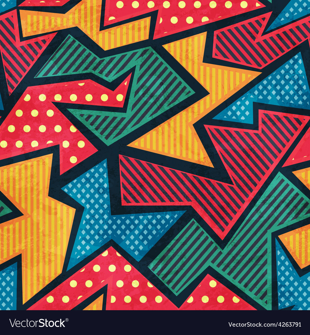 Retro tissue seamless pattern with grunge effect vector | Price: 1 Credit (USD $1)