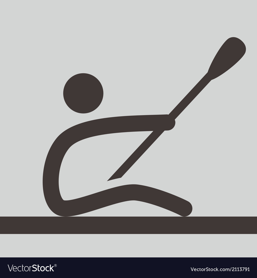 Rowing and canoeing icon vector | Price: 1 Credit (USD $1)