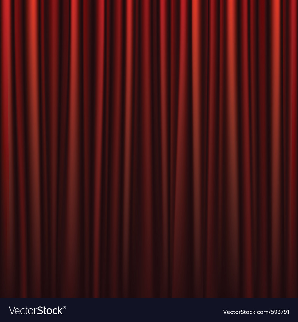 Seamless red curtain vector | Price: 1 Credit (USD $1)