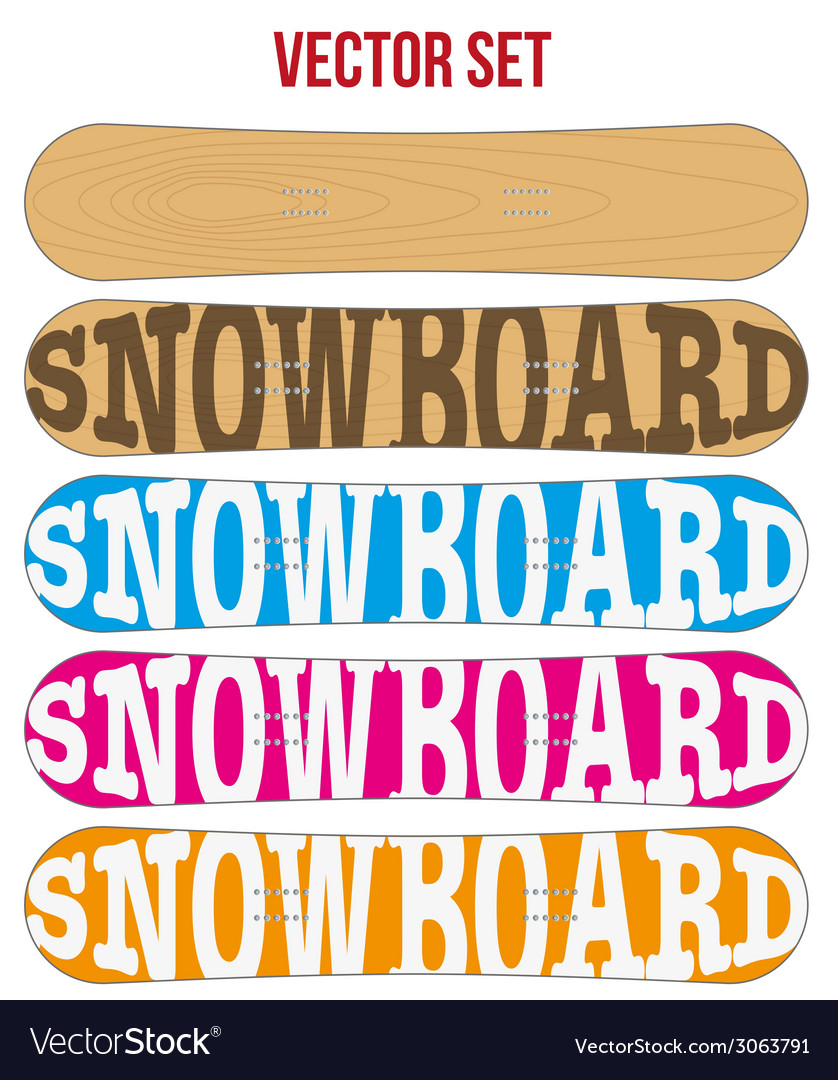 Snowboard sample flat symbols for design vector | Price: 1 Credit (USD $1)