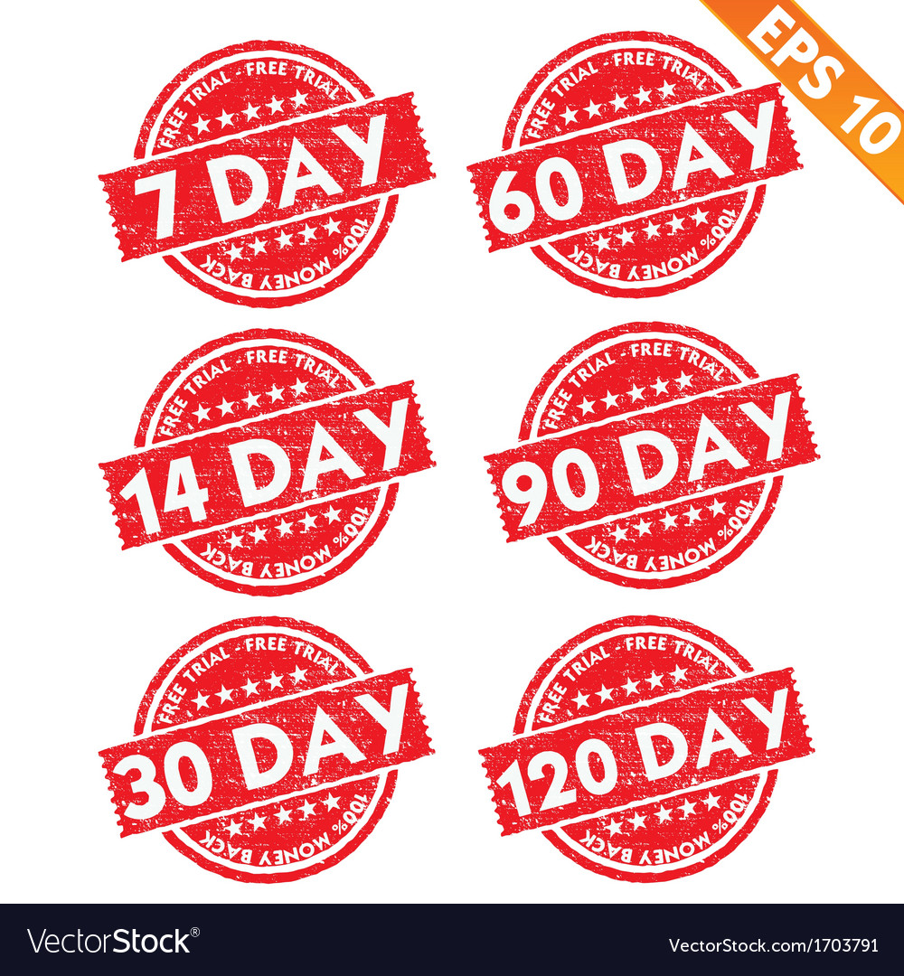 Stamp sticker free trial collection - - eps vector | Price: 1 Credit (USD $1)