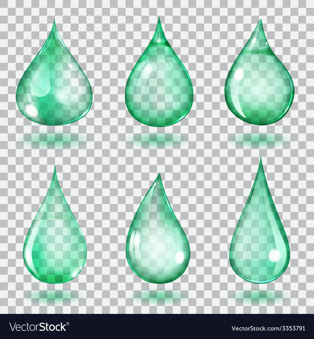 Transparent turquoise drops vector | Price: 1 Credit (USD $1)