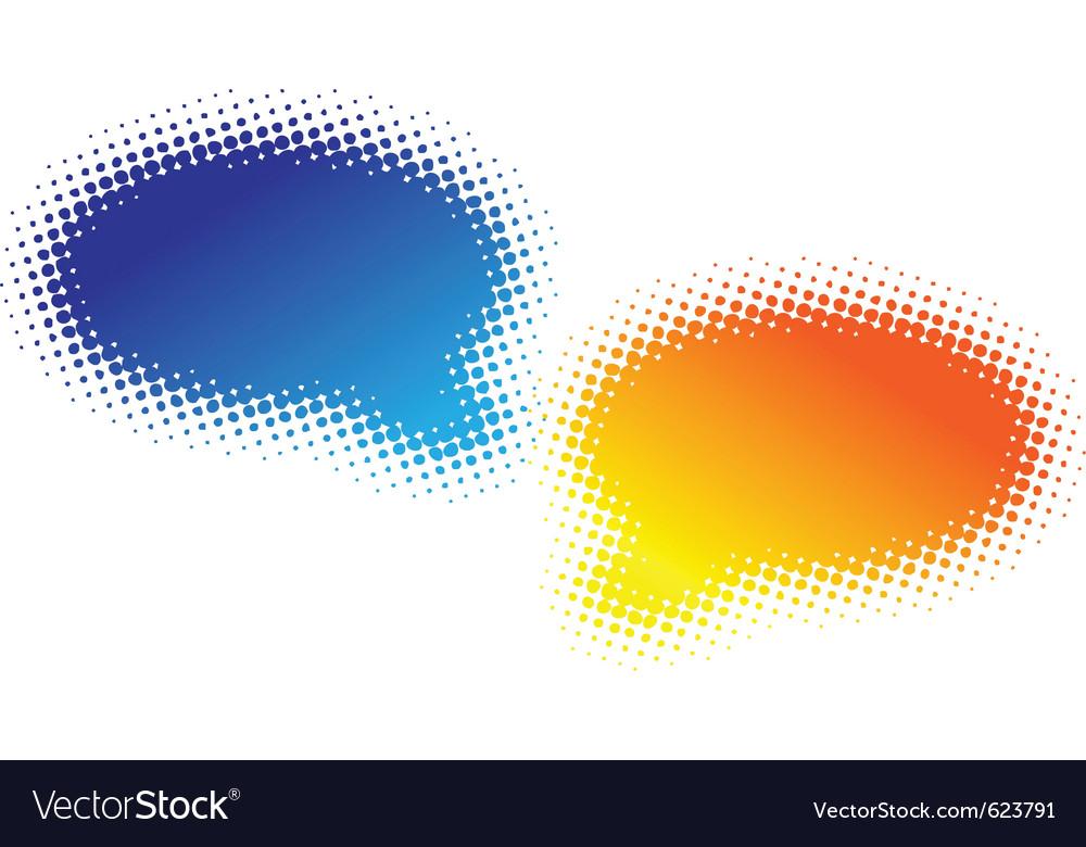Two halftone bubbles vector | Price: 1 Credit (USD $1)