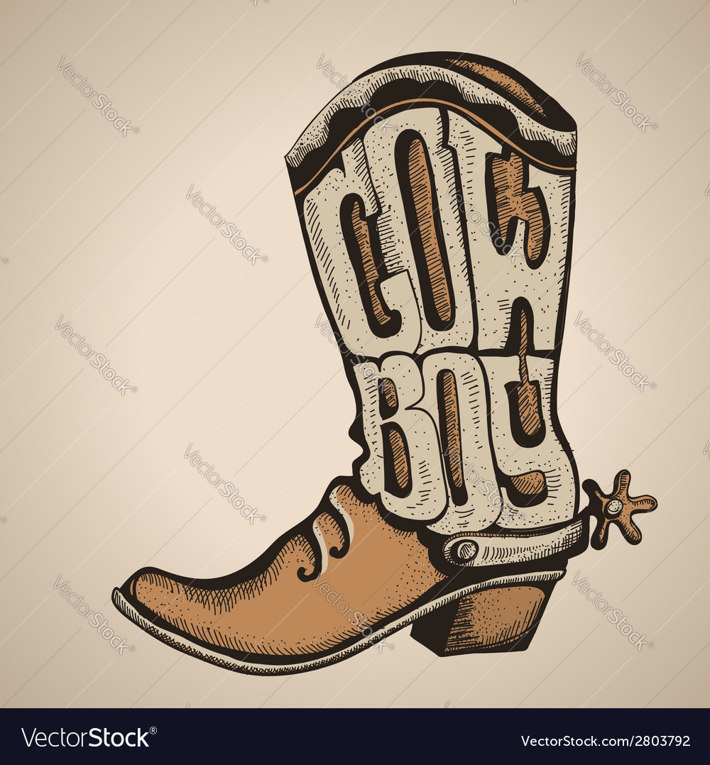Cowboy boot isolated foe design vector | Price: 1 Credit (USD $1)