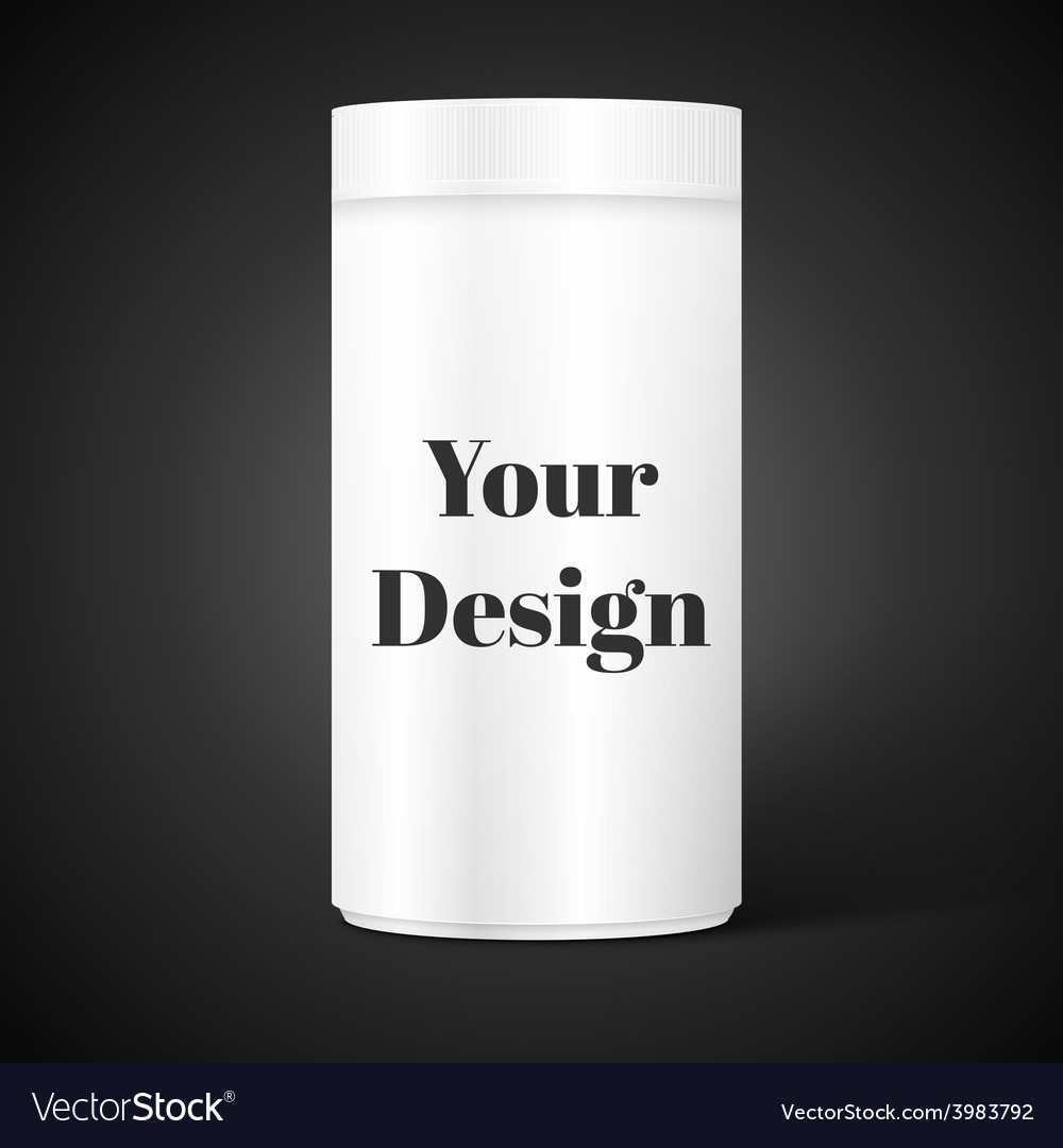 Empty white cylindrical box on the isolated vector | Price: 1 Credit (USD $1)