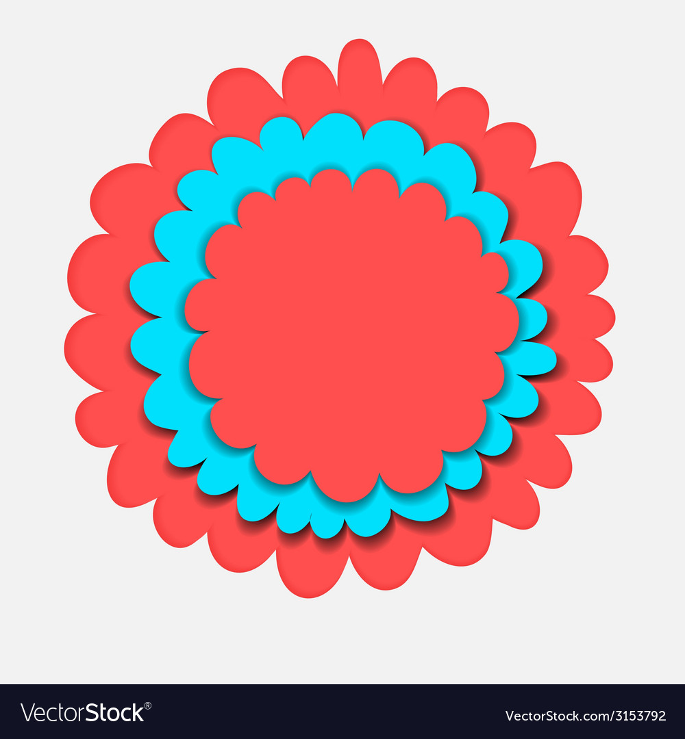 Flower banner paper cut vector | Price: 1 Credit (USD $1)