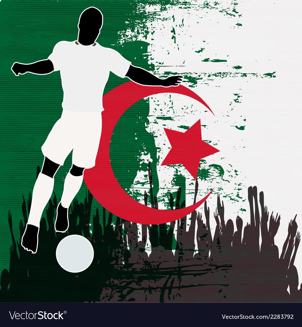 Football algeria vector | Price: 1 Credit (USD $1)