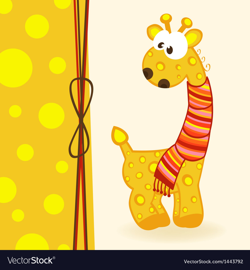 Giraffe with scarf vector | Price: 1 Credit (USD $1)